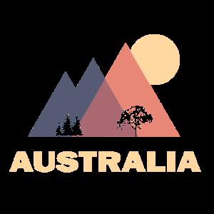 australier australien abstrakt berge geschenk
