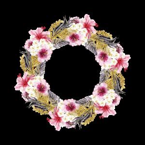 Blumenkranz Blumen Blumenranke bunt Sommer