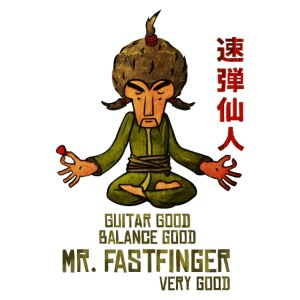 Mr. Fastfinger - cartoon guitar hero