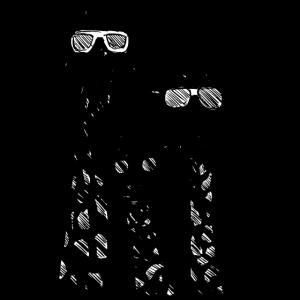 Coole Giraffen mit Sonnenbrillen