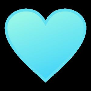 Herz - Blau Hell