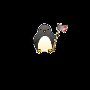 Pinguin Ich Hasse Menschen Lustig Axt Blut