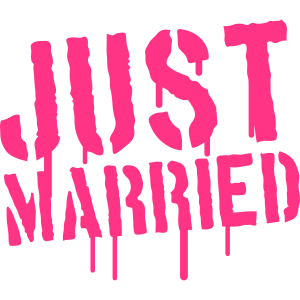 Just Married Stamp Logo