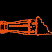 Bierschicht Seite Glas Schaum Alkohol