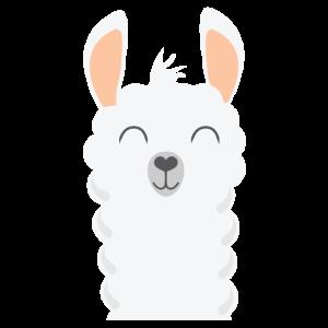 Llama Weiss Lachen Geschenk