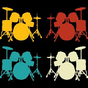 Schlagzeuger Retro Schlagzeug Drummer Geschenk