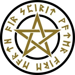 Pentagramm Elemente Magie Runen Stern Heidentum