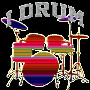 I Drum Schlagzeuger Grafik Design