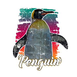 Pinguin Retro Seevogel Geschenk