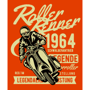 Roller Renner Legende Geschenk 1964 Männer orange