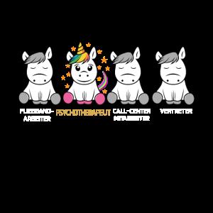Psychotherapeut Einhorn T-Shirt Geschenk Idee für