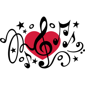 Musik Herz Noten Chor Klassik Ton I love music