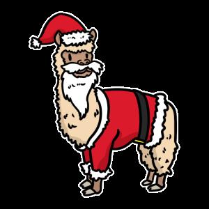 Weihnachten mit Weihnachtsalpaka