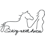 Being with Horses Vector
