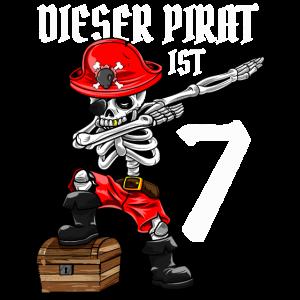 7 Jahre dabbing Pirat Junge 7. Geburtstag Geschenk
