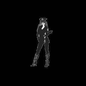 Frau in Polizeiuniform
