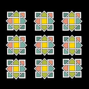Geometrische Muster, Farbe