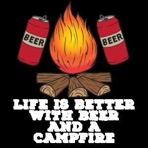Bier Camping Zelten Wandern Alkohol Geschenk