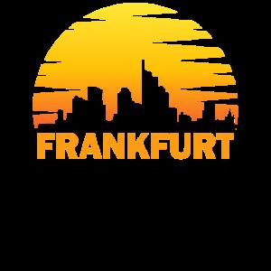 Frankfurt Skyline Vintage Retro Hessen Geschenk