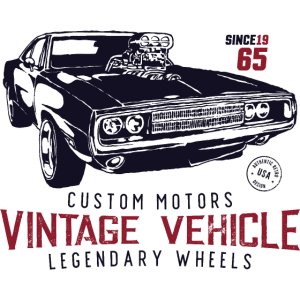 classic muscle - vintage vehicle
