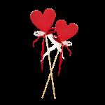 Zwei Lollipops Herzen mit band