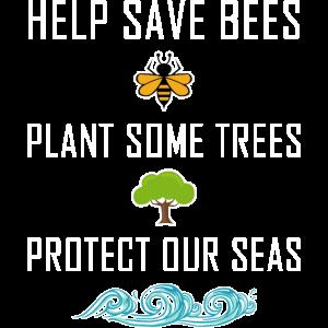 Save the Bees Bienen Umwelt Meer Umweltschutz