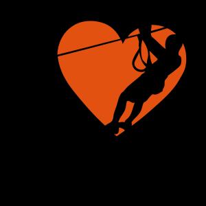 Liebe Park Abenteuer süchtig Zipline Zweig Herz