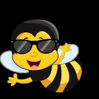 Biene Sonnenbrille Cool Comic fliegende