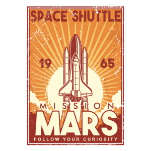 Space Shuttle 1965 Mission Mars Weltall Geschenk