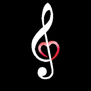 Musik Musiknote Notenschlüssel Musiker Herz