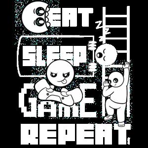 Eat Sleep Game Repeat Zocker