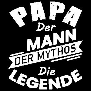 Vatertag Design: Papa. Der Mann. Der Mythos.