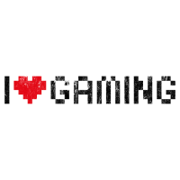 i love gaming - Used Look