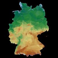 Deutschlandkarte in Low-Poly