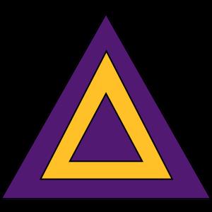 Triangle - Orange - Violet