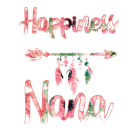 Happiness is Being a Nana Floral T Shirt Mother s