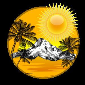 Sommer Strand Palmen Urlaub