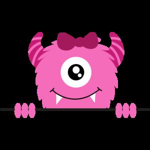 Kleines süßes niedliches weibliches Monster