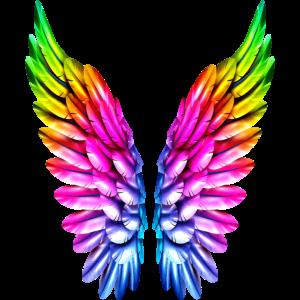 LGBT Regenbogen Engelsflügel Gay Lesbisch Queer