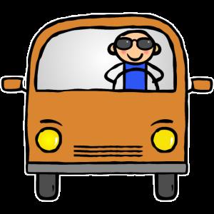 Busfahrer fährt Bus Van Wohnmobil Camper Fahrer