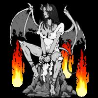 Teufel Satan Hölle Satanismus Halloween Dark