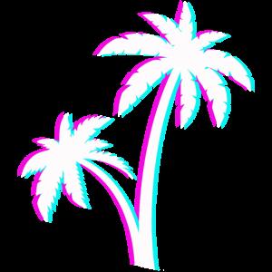 Palmen Sommer Strand Urlaub Palme Blätter Meer