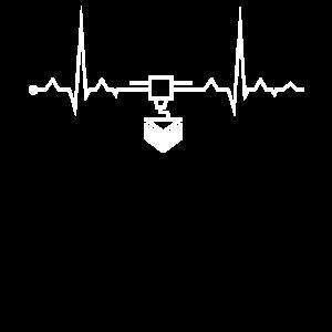 Herzschlag EKG 3D Drucker