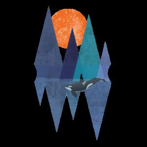 Polygon Orca Killer Wal Design