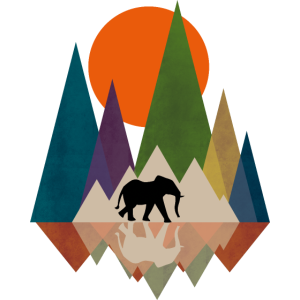Polygon Elefant Design