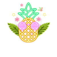 Neon Party Pineapple For Glow Party Costume