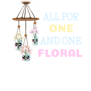 Alle für einen und einen lustigen Blumenspielspiel