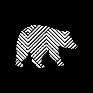 Geometrischer Bär - Geometrie Design eines Bärs