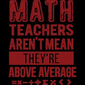Or Math Teachers above Average