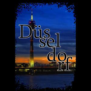Duesseldorf bei Nacht Düsseldorf Deutschland